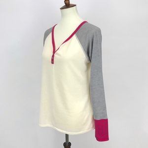 Twenty Second Tops - Twenty Second 22nd Color block Henley Long Sleeve